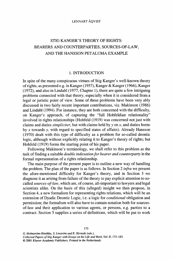 Examples of law essays